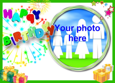 online greeting card maker with photo, Birthday card